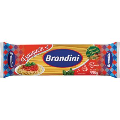 Macarrão Espaguete (8) com Sêmola 500g Brandini pacote UN