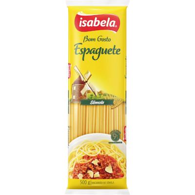 Macarrão Espaguete com Sêmola 500g Isabela pacote UN