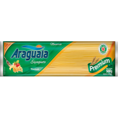 Macarrão Espaguete Premium  500g Araguaia  pacote UN