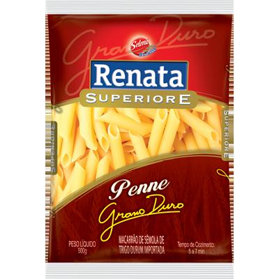 Macarrão Penne com sêmola Grano Duro 500g Renata Superiore pacote UN