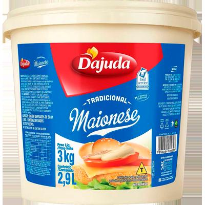 Maionese  3kg D'ajuda balde BD