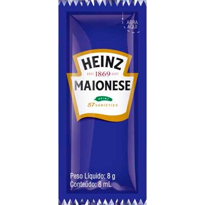Maionese  unidades de 6/8g Heinz em sachês UN