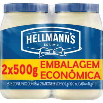 Maionese Leve Mais Pague Menos 2 unidades de 500g Hellmann's pacote PCT
