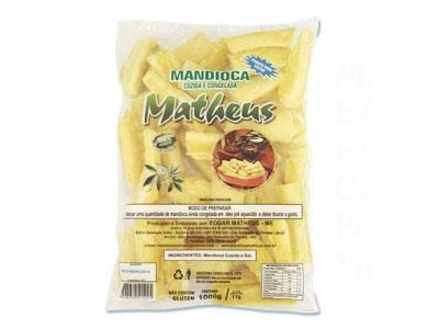 Mandioca Tolete Cozida e Congelada 2,5kg Matheus pacote PCT