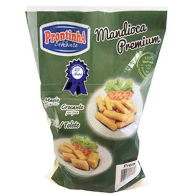 Mandioca tolete congelada por kg Prontinha Premium pacote KG