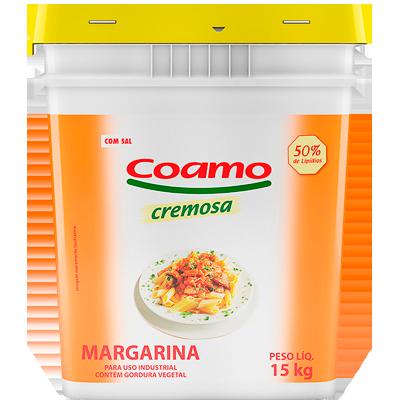 Margarina com Sal 50% Lipídeos 15kg Coamo balde BD