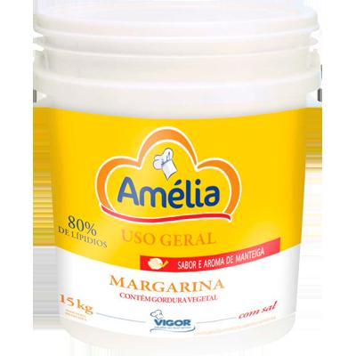 Margarina com Sal 80% Lipídeos 15kg Amélia balde BD