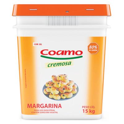 Margarina com Sal 80% Lipídeos 15kg Coamo balde BD