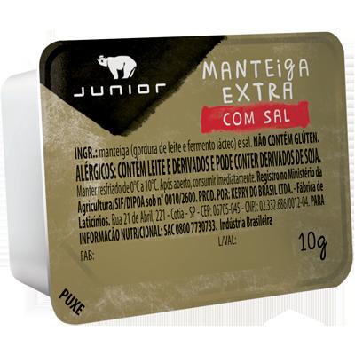 Margarina com sal unidades de 10g Junior blister UN