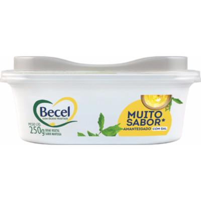 Creme Vegetal sabor Manteiga com Sal 250g Becel pote UN