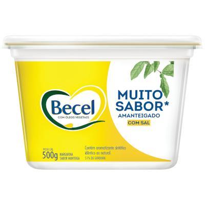 Creme Vegetal sabor Manteiga com Sal 500g Becel pote UN