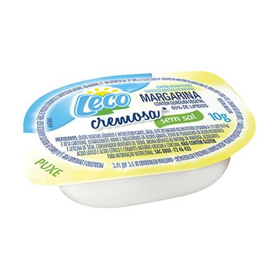 Margarina sem Sal 192 unidades de 10g Leco caixa CX
