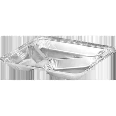 Marmitex de alumínio 3 divisórias 900ml com fechamento manual 100 unidades Wyda caixa CX