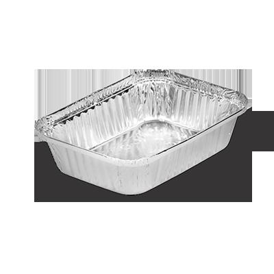 Marmitex de alumínio 500ml com fechamento manual 100 unidades Boreda caixa CX