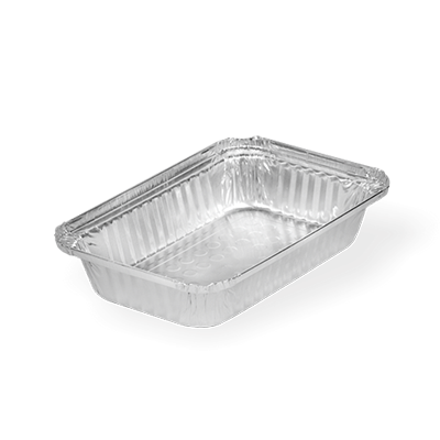 Marmitex de Alumínio com Fechamento Manual - 750ml 100 unidades Boreda caixa CX