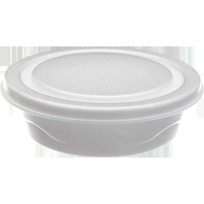 Marmitex de Isopor Fundo Redondo - 750ml 100 unidades Totalplast caixa CX