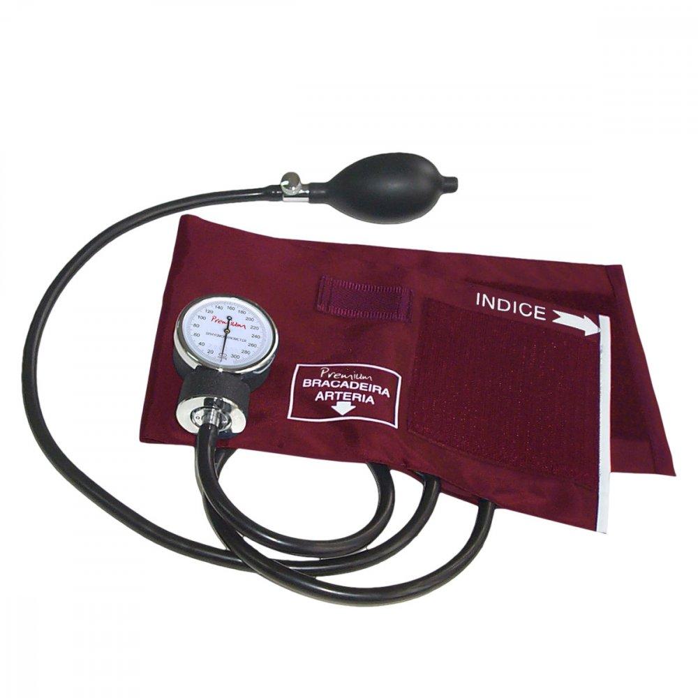 Medidor de Pressão de Braço Mecânico Aneroide ESFH20VI Vermelho unidade Premium  UN