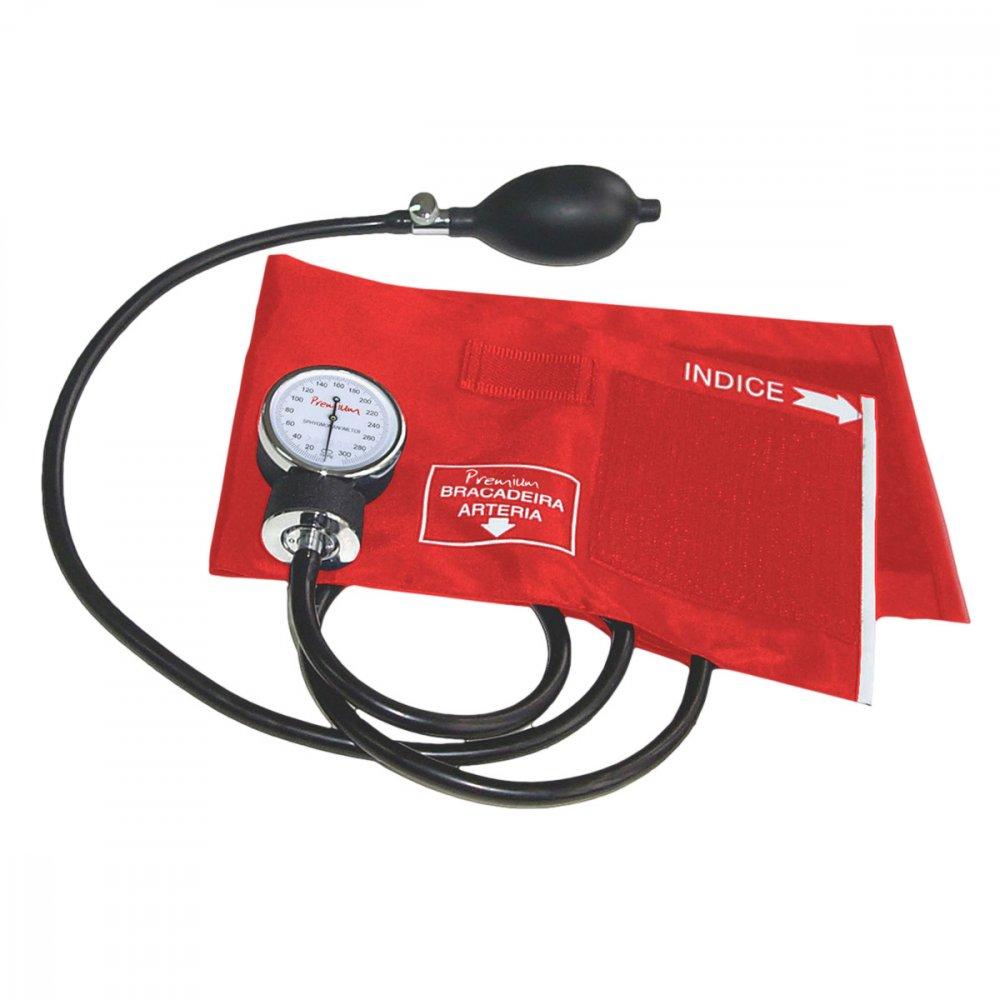 Medidor de Pressão de Braço Mecânico Aneroide ESFH20VM Vermelho unidade Premium  UN