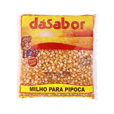 Milho de pipoca  500g DáSabor pacote UN
