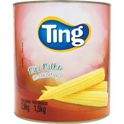 Mini Milho em Conserva 1,5kg Ting lata UN