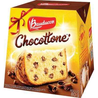 Mini Chocotone Gotas de Chocolate 80g Bauducco  UN