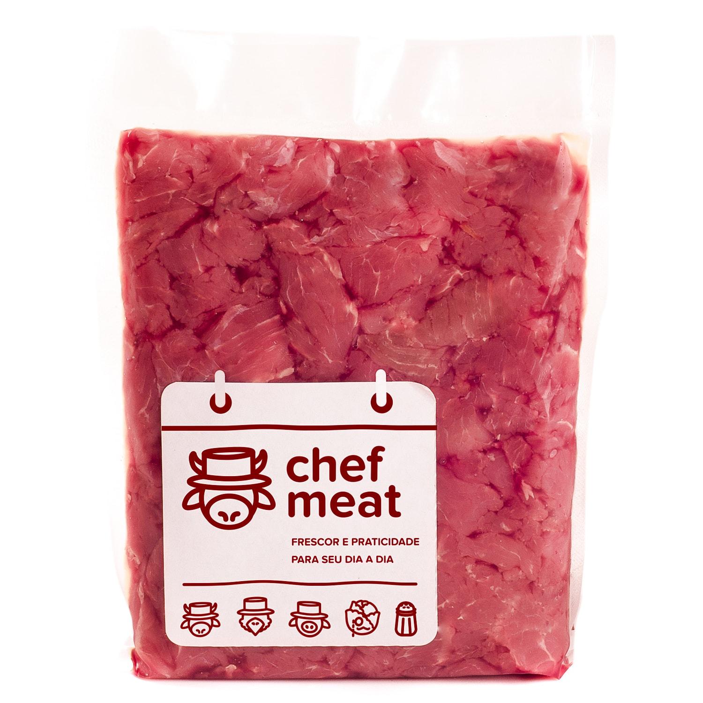 Miolo de Acém Resfriado em Pedaços 1Kg Chef Meat pacote PCT