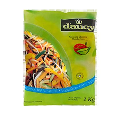 Mistura Chinesa de legumes congelado 1kg Daucy pacote UN