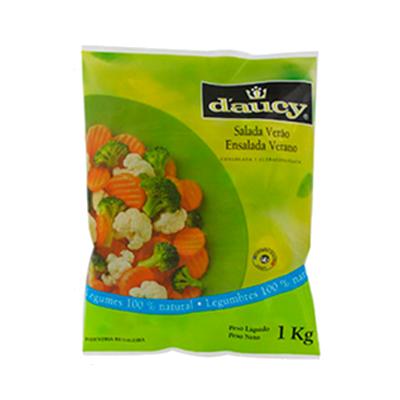 Mistura de Salada Verão de legumes congelado 1kg Daucy pacote UN