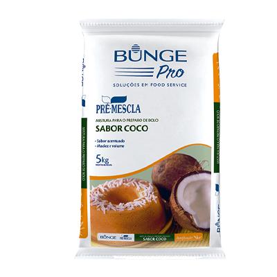 Mistura para Bolo de Coco 5kg Bunge/Pré-Mescla pacote PCT