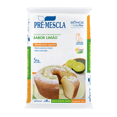 Mistura para Bolo de Limão 5kg Bunge/Pré-Mescla pacote PCT