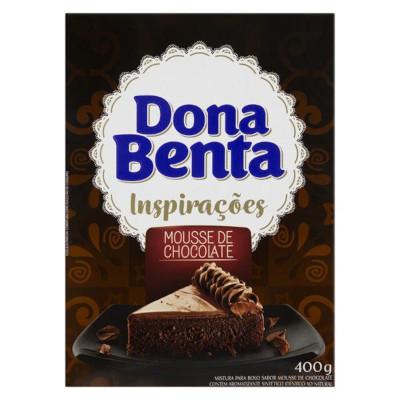 Mistura para Bolo mousse de chocolate 400g Dona Benta caixa CX