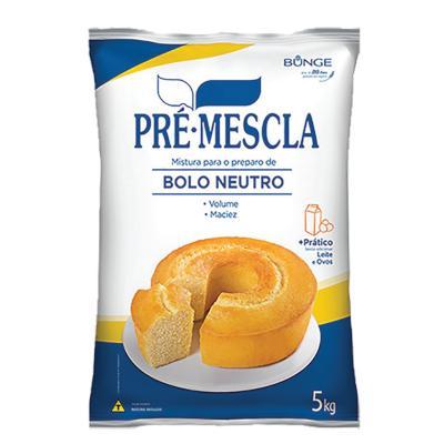 Mistura para Bolo Neutro 5kg Bunge/Pré-Mescla pacote PCT