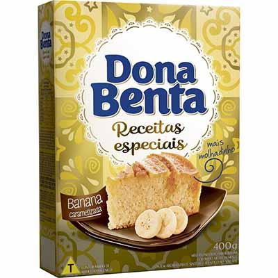 Mistura para Bolo sabor banana caramelizada 400g Dona Benta pacote PCT