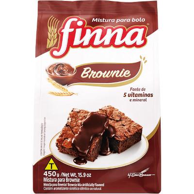 Mistura para Bolo sabor Brownie 450g Finna pacote PCT