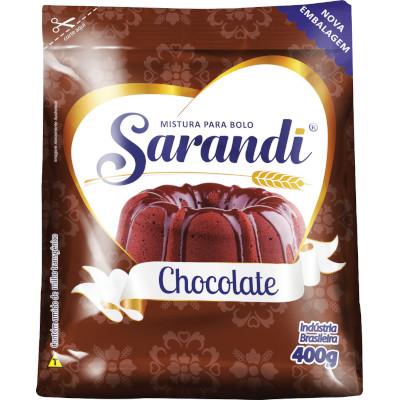 Mistura para Bolo sabor Chocolate 400g Sarandi pacote PCT