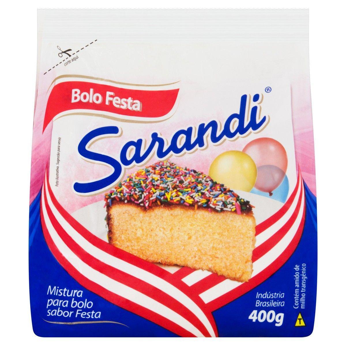 Mistura para Bolo sabor Festa 400g Sarandi pacote PCT