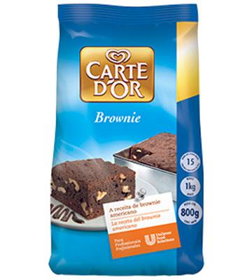 Mistura para Brownie de chocolate 800g Carte D'or pacote UN