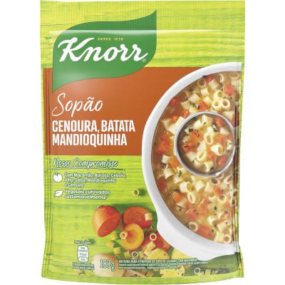 Mistura para Sopa de Cenoura, Batata e Mandioquinha com Macarrão 183g Knorr Sopão pacote PCT
