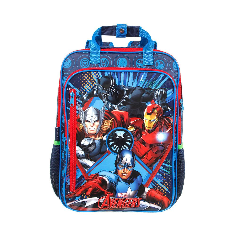 Mochila Escolar Infantil Animated Max Super Azul unidade Avengers  UN