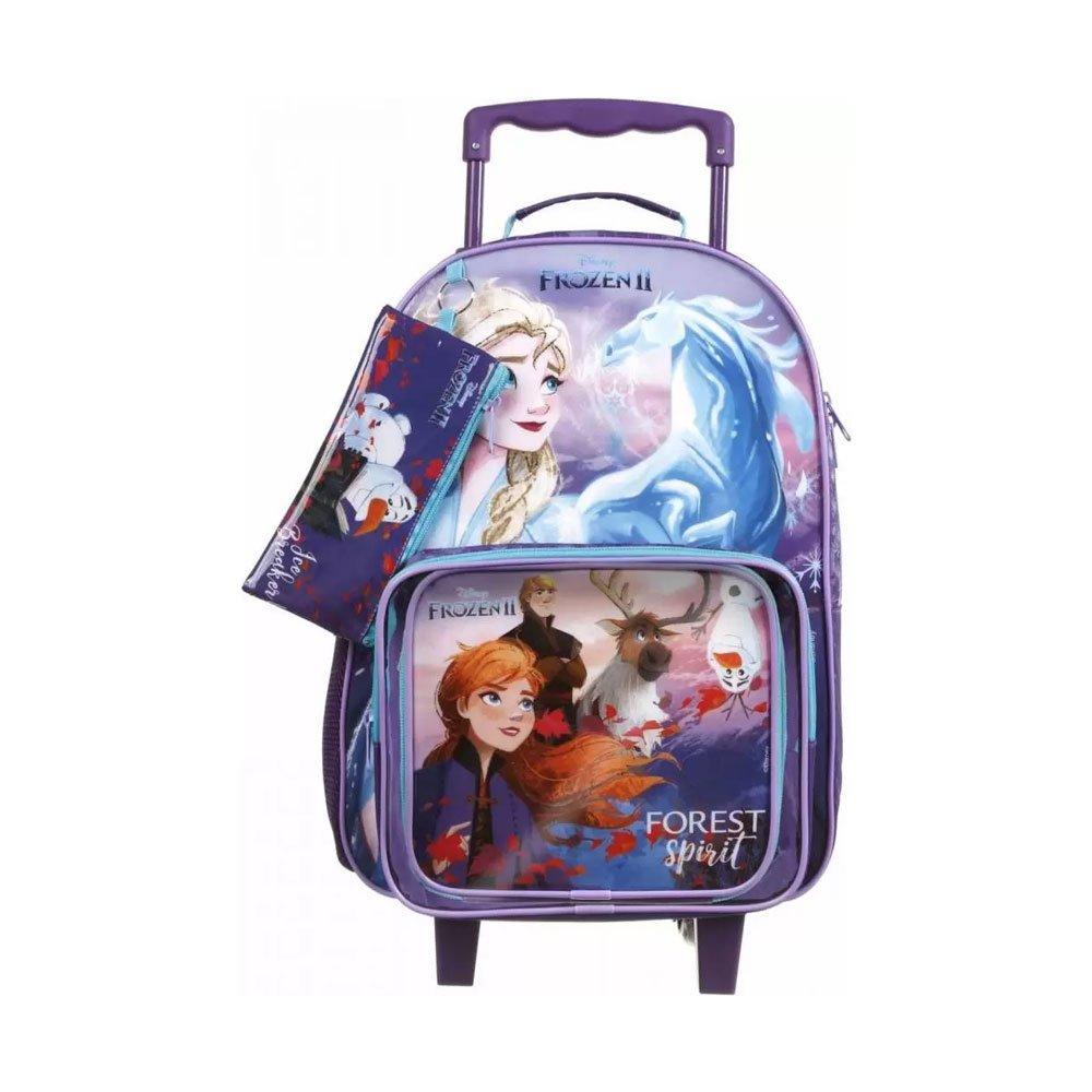 Mochila Escolar Infantil com Rodinhas Frozen 37391 Roxa unidade Dermiwil  UN