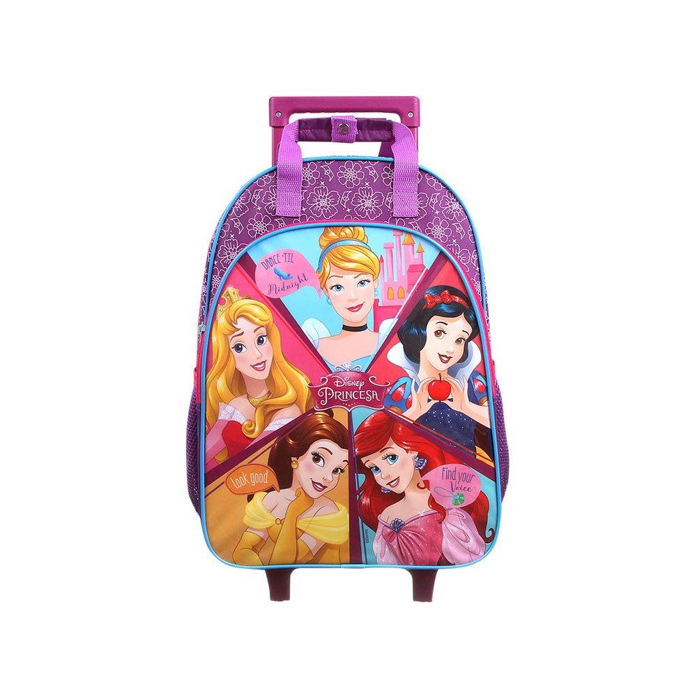 Mochila Escolar Infantil com Rodinhas Princesas Disney 37501 Roxa unidade Dermiwil  UN