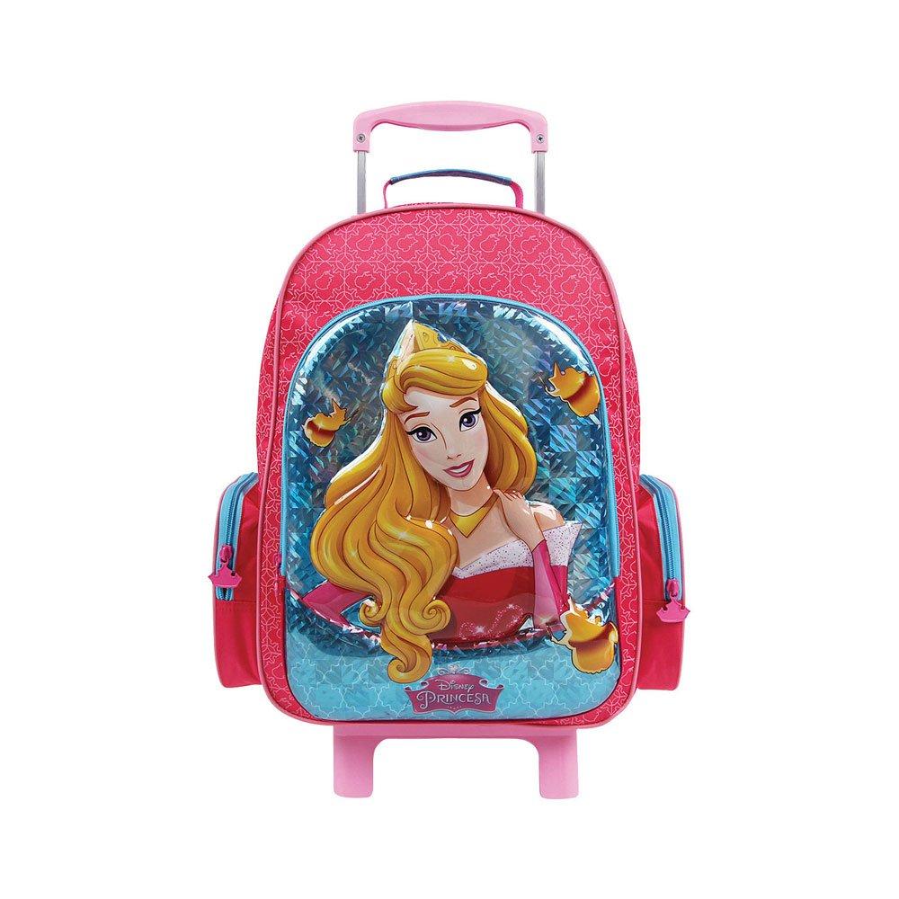 Mochila Escolar Infantil com Rodinhas Princesas Disney A Bela Adormecida 30004 Rosa unidade Dermiwil  UN