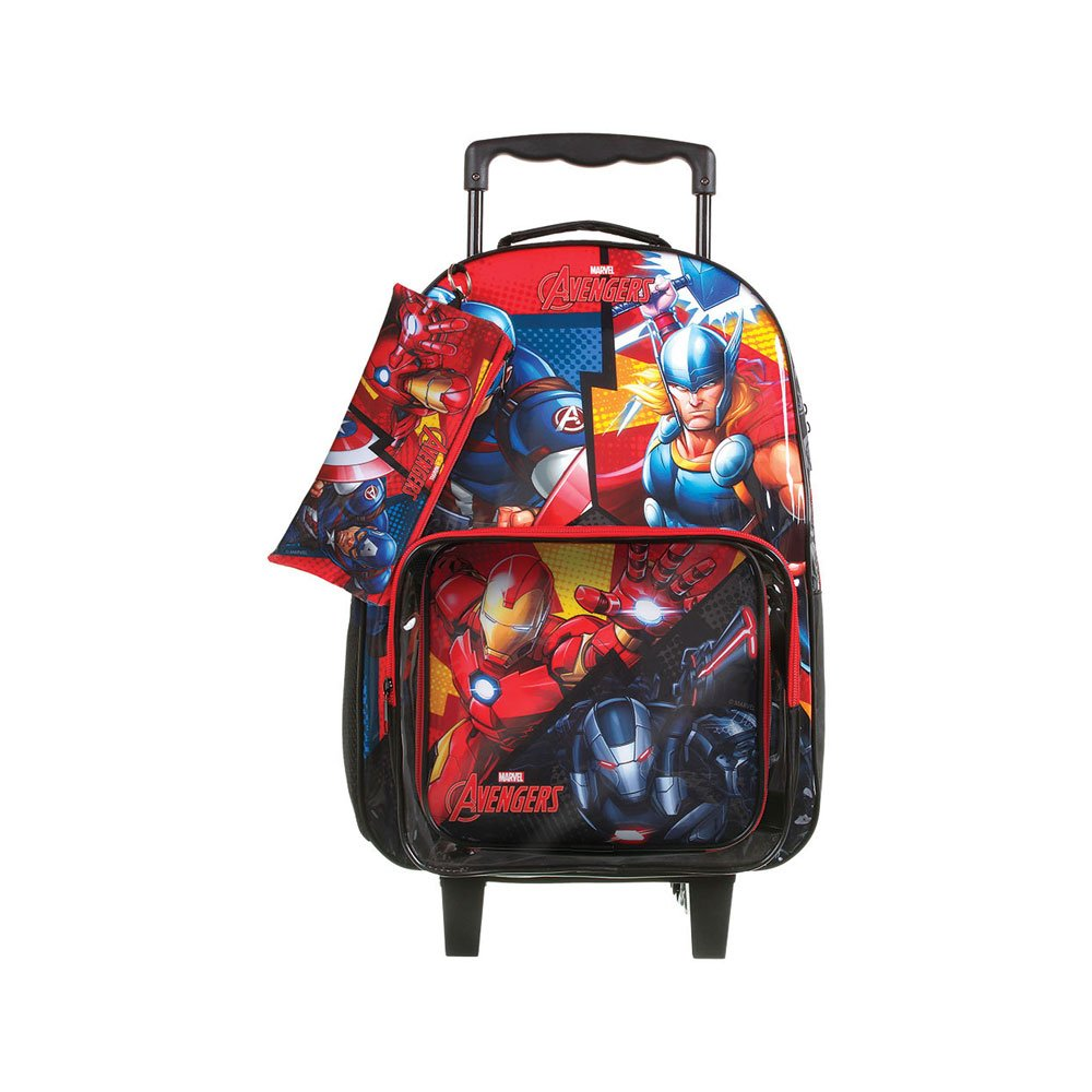 Mochila Escolar Infantil Combo Avengers Animated Colorida unidade Marvel  UN
