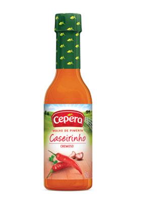 Molho de pimenta caseiro 50/60ml Cepêra/Caseirinho  UN