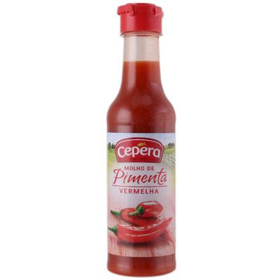 Molho de pimenta vermelha 50/60ml Cepêra  UN