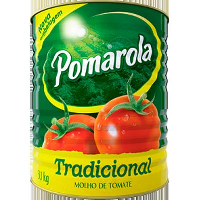 Molho de Tomate Tradicional 3,1kg Pomarola lata LT