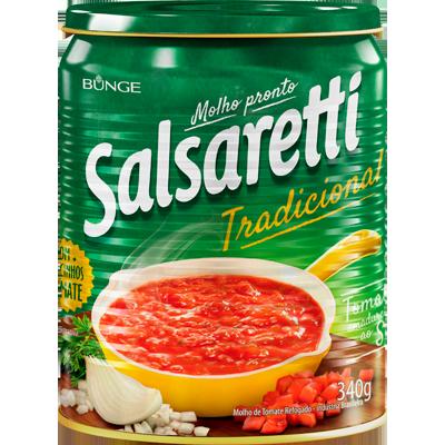 Molho de Tomate Tradicional 340g Salsaretti lata UN
