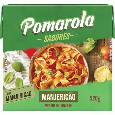 Molho de tomate Manjericão  520g Pomarola Tetra Pak UN