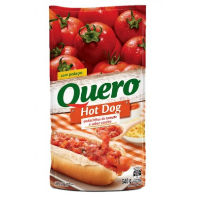 Molho de Tomate Hot Dog 340g Quero sachê UN