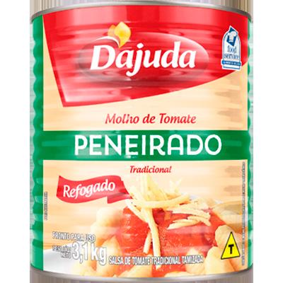 Molho de tomate peneirado 3,1kg D'ajuda lata UN